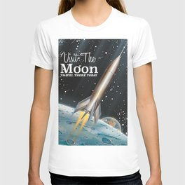 visit the moon vintage science fiction poster T-shirt