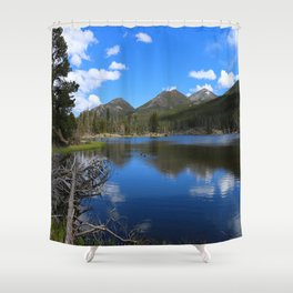 Sprague Lake And Cloud Reflection Shower Curtain