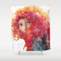 merida Shower Curtains featuring Brave Merida Disneys by Carma Zoe
