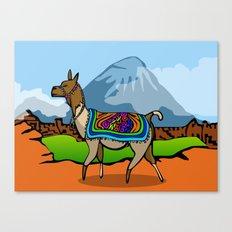 Lofty Llama Canvas Print
