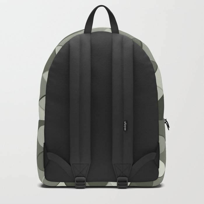 Cool Grayscale triangles geometric pattern Backpack