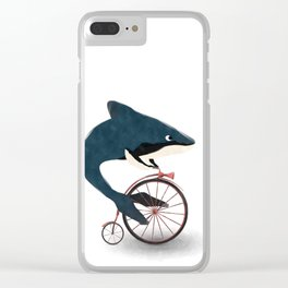 Late whale Clear iPhone Case