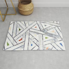 Deco Jeweled Marble Rug