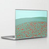 poppies Laptop & iPad Skins featuring Poppies by Anita Ivancenko