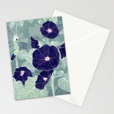 Dark florals Stationery Cards