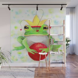 Whimiscal Frog with Red Ball Wall Mural