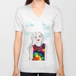 sounds in my head Unisex V-Neck