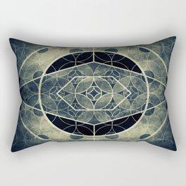 Sacred Geometry for your daily life -  SATURN EYE Rectangular Pillow