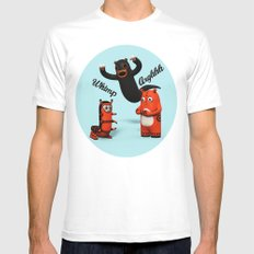 Sniff and Boo White Mens Fitted Tee MEDIUM
