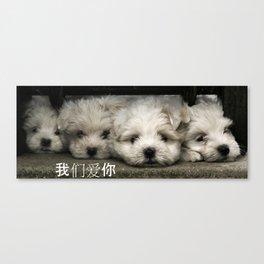 Mega Puppies - Chinese Canvas Print