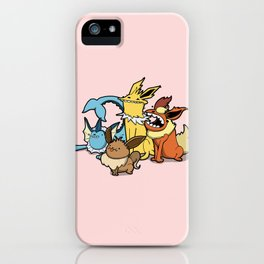 Pokémon - Number 133, 134, 135 and 136 iPhone Case
