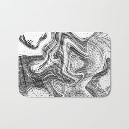 Marbled Letters Bath Mat