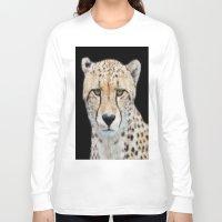 cheetah Long Sleeve T-shirts featuring Cheetah by Lynn Bolt