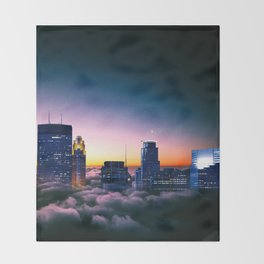 Minneapolis Above the Clouds Throw Blanket