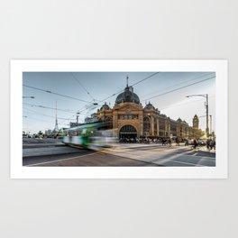 flinders station Art Print