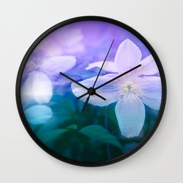 Romantic Garden with Flowers Wall Clock