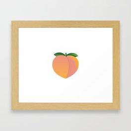 Peach Framed Art Print