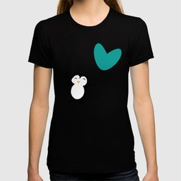 Penguin in love Brown T-shirt