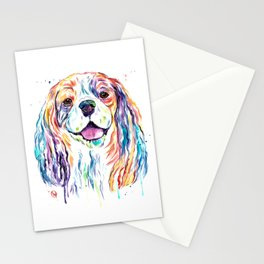Cavalier King Charles Spaniel - Colorful Watercolor Painting Stationery Cards