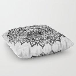 BLACK JEWEL MANDALA Floor Pillow