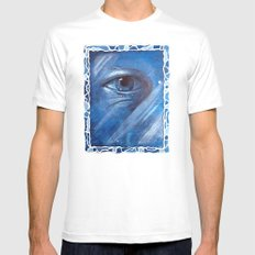 the eye of the universe MEDIUM White Mens Fitted Tee