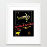 space dandy Framed Art Prints featuring NES Space Dandy by IF ONLY