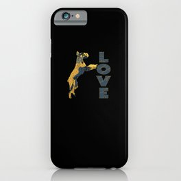 Giant Schnauzer LOVE Star Christmas Schnauz iPhone Case