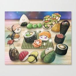 Sushi Rose Canvas Print