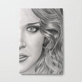 Half Portrait Metal Print