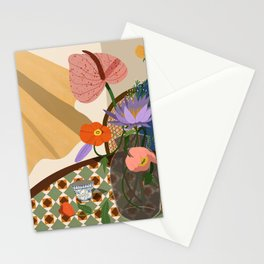 Flowers on the Dining Table. Stationery Cards