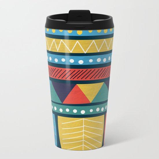 Ethnic Pattern Metal Travel Mug