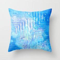 Infinitely Blue Squared Throw Pillow