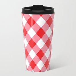 Gingham - Red Travel Mug