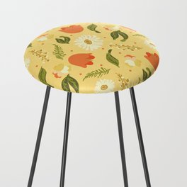 Autumn Floral Counter Stool