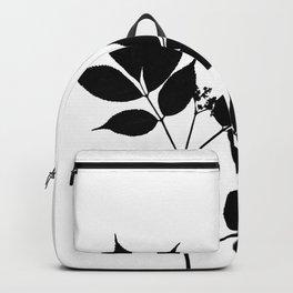 Black leaves on white Backpack