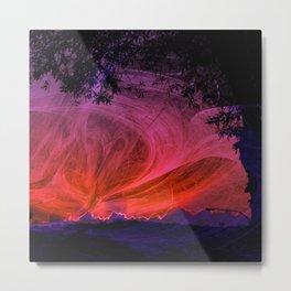 Fiery fractal sunset Metal Print
