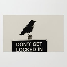 Don't Lock Me In - Graphic Birds Series, Plain - Modern Home Decor Rug