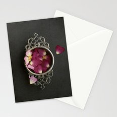 Vintage Tea Strainer and Rose Petals Stationery Cards