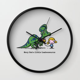 Mary Had a Little Lambeosaurus Wall Clock