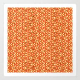Bright Orange Geometrical Pattern Art Print