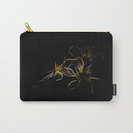 abstract flowers in front of black background Carry-All Pouch