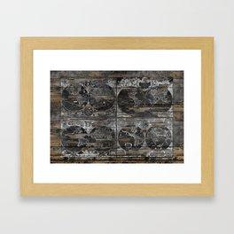 Historical Maps Framed Art Print