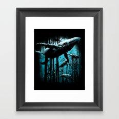 Whale Forest Framed Art Print