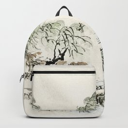 Shogun by Kono Bairei (1844-1895) Backpack