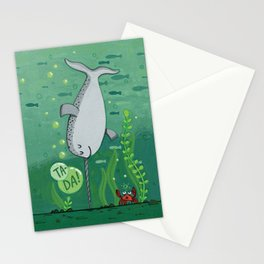 Narwhale Handstand Stationery Cards