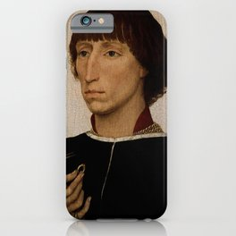Rogier van der Weyden - Portrait of Francesco d'Este iPhone Case