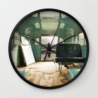 door Wall Clocks featuring Emergency Door by Rachel Bellinsky