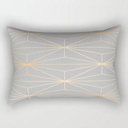 ELEGANT GRAY SILVER GOLD DIAMOND PATTERN Rectangular Pillow