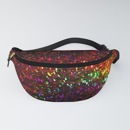Fascination in gold-photograph of colorful lights Fanny Pack