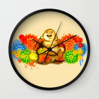 buddah Wall Clocks featuring Buddah by Adaildo Neto